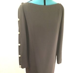A.J. Bari Vintage Midlength Black Dress Size 12